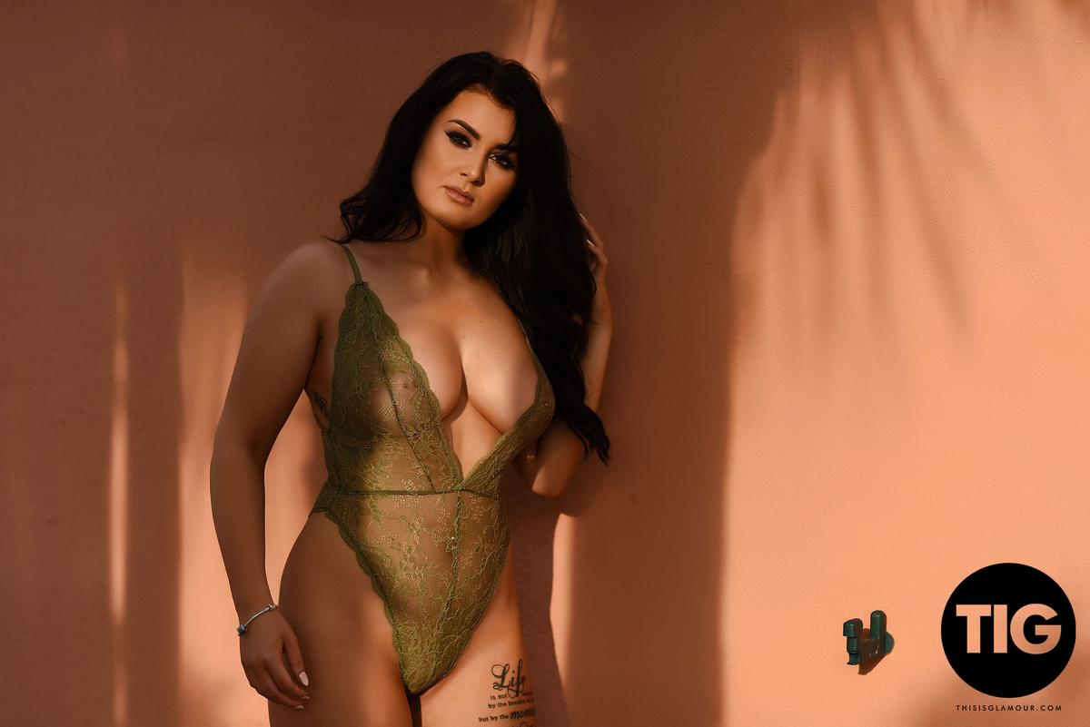 Ashleigh Gee In Sexy See Through Bodysuit  Topbabesblog-4764