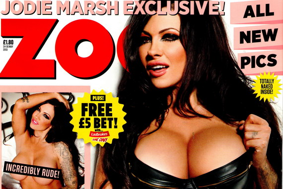 Jodie Marsh naked - ZOO Magazine