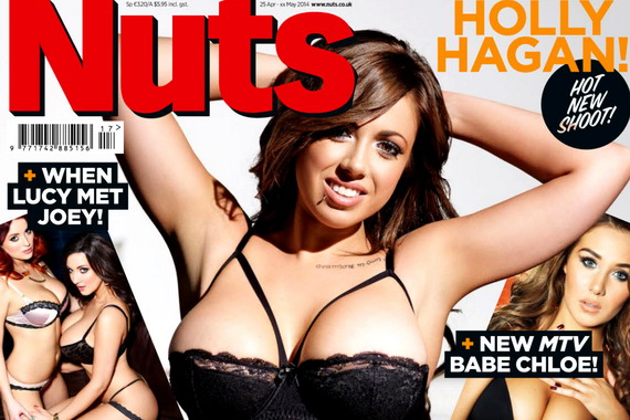 Holly Hagan topless - Nuts Magazine