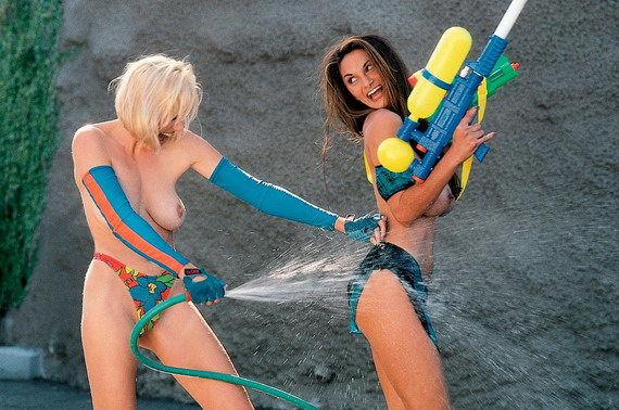 Petra Verkaik in a Topless Water Gun Fight and other Hot Links
