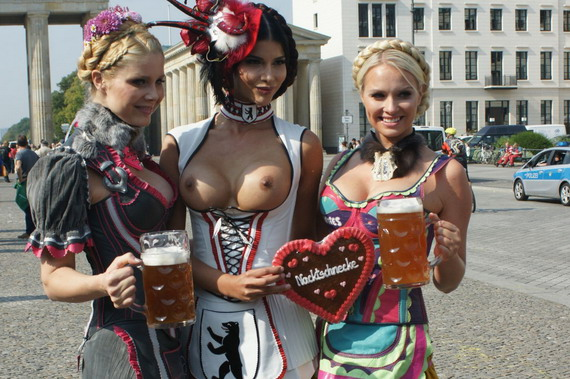 Topless Micaela Schaefer Promotes Oktoberfest and other Hot Links