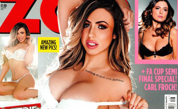 Holly Hagan topless - ZOO Magazine