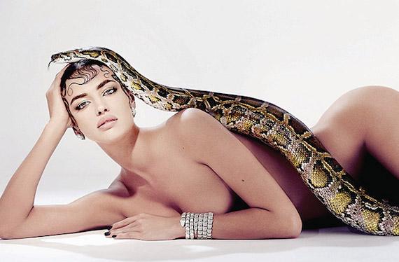 Irina Shayk Strategic naked -  Sorbet Magazine