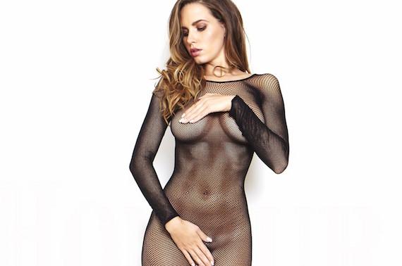 sabine jemeljanova front magazine topless photoshoot