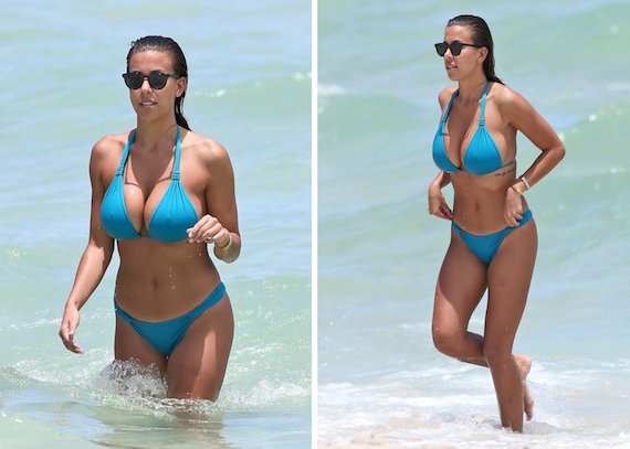 Devin Brugman overflowing out of her bikini top and other Hot Links