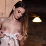 Emelia Paige – White See-Through Bodysuit