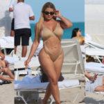 Anastasia Kvitko - swimsuit candids in Miami Beach