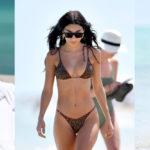 Chantel Jeffries - wearing leopard print bikini on the beach in Miami Beach