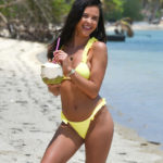 Shelby Tribble - bikini candids on the beach in Thailand