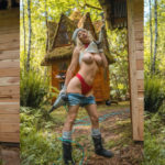 Sara Jean Underwood topless photoshoot in Woods and other Hot Links